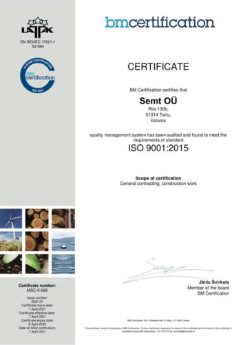 Semt ISO 9001 2015